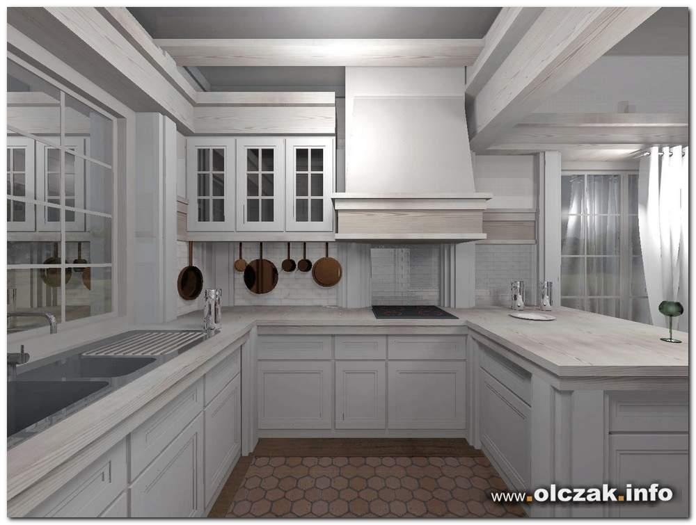 Architekt Maciej Olczak  projekt wnetrza kuchni -> Kuchnia Prowansalska Projekt