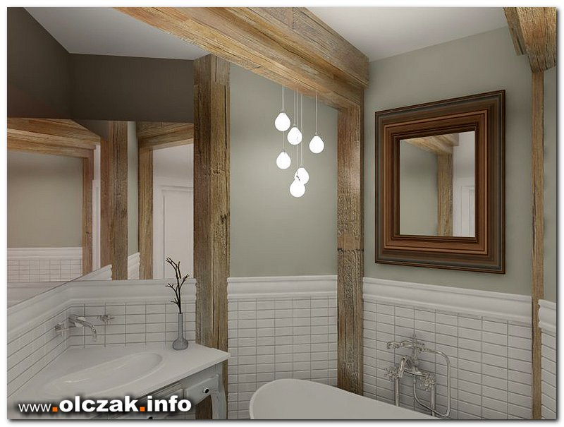 Architekt Maciej Olczak Projekt łazienki